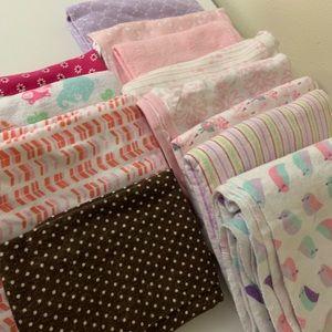 Receiving Blanket/Burp Cloth Lot